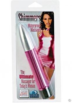 SHIMMERS WATERPROOF MASSAGER 6.5 INCH PINK