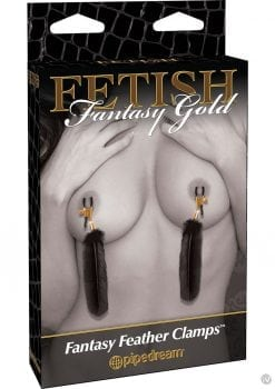 Fetish Fantasy Gold Fantasy Feather Clamps Black
