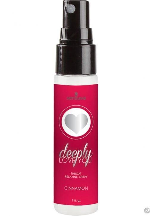 Deeply Love You Throat Relaxing Spray Cinnamon 1 Ounce Spray