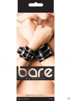 Bare Bondage Vinyl Wrist Cuffs Clear