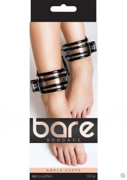 Bare Bondage Vinyl Ankle Cuffs Clear