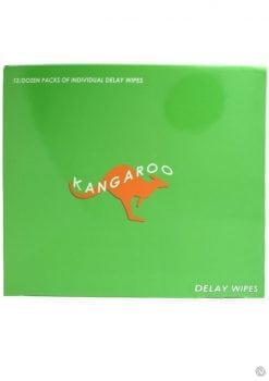 Kangaroo Delay Wipes 12 Wipes Per Pack 12 Packs Per Counter Display