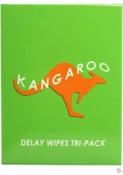 Kangaroo Delay Wipes 3 Wipes Per Pack 48 Packs Per Counter Display