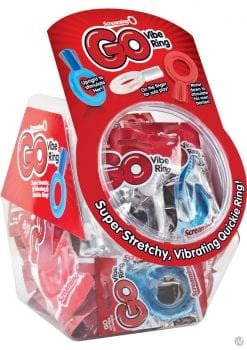 Go Vibe Ring Disposable Cockrings Assorted Colors 36 Each Per Bowl Display