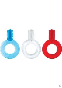 Go Vibe Ring Disposable Cockrings Assorted Colors 18 Each Per Counter Display