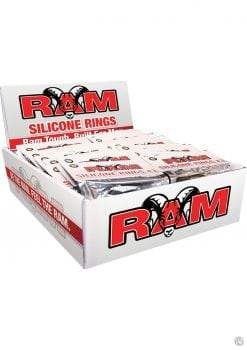 Ram Silicone Rings 3 Pack POP Box 24 Each Per Display