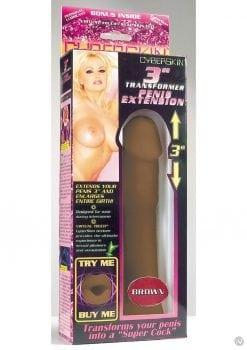 Cyberskin 3 Inch Transformer Penis Extension Cinnamon