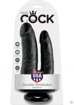 King Cock Double Penetrator Dildo Black