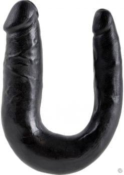 King Cock U-Shaped Small Double Trouble Dildo Black