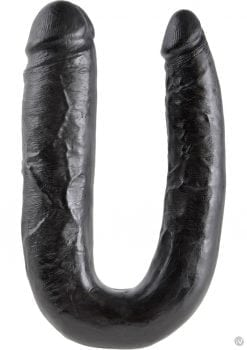 King Cock U-Shaped Large Double Trouble Dildo Black