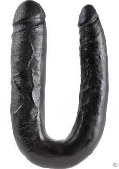 King Cock U-Shaped Large Double Trouble Dildo Black