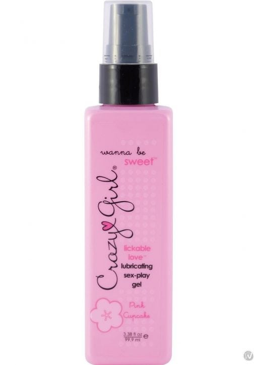 Crazy Girl Wanna Be Sweet Lubricating Sex Play Enhancement Gel Pink Cupcake 3.38 Ounce