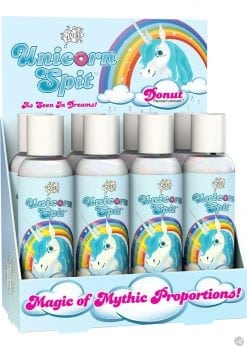 Wet Unicorn Spit Waterbased Lubricant Donut Flavor 4.6 Ounce 8 Each Per Counter Display