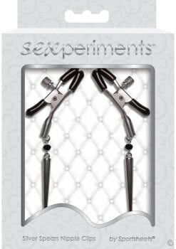 Sex And Mischief Silver Spears Adjustable Nipple Clips