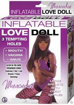 Inflatable Love Doll Mercedes Waterproof Brown 4.85 Feet