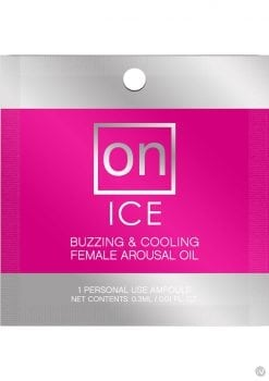 On Ice Buzzing and Cooling Female Arousal Oil .01 Ounce 75 Ampoule Per Bowl