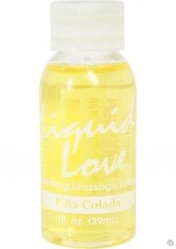 Liquid Love Warming Massage Lotion 1 Ounce Pina Colada 1 Ounce