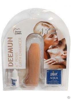 Doctors Love Deemun Penis Girth Enhancer Vibrating 6 Inch Flesh