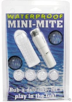 Mini Mite Massager With Sleeve Waterproof 4 Inch White