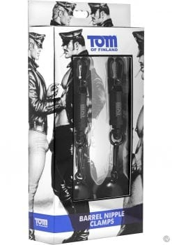Tom Of Finland Barrel Nipple Clamps With 4 Ounce Weights