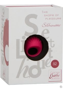 Silhouette S2 Silicone Rechargeable Finger Massager Waterproof Red 1.75