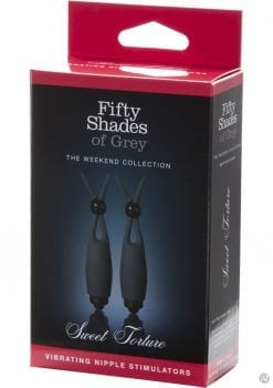 Fifty Shades Of Grey Sweet Torture Vibe Nipple Stimulators Black
