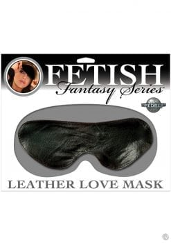 Fetish Fantasy Leather Love Mask Black