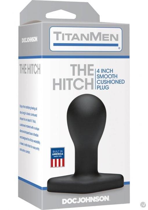 TitanMen The Hitch Anal Plug Black 4 Inch