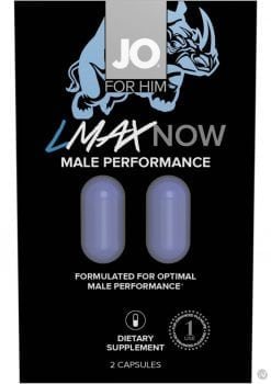Jo For Him Lmax Now Male Performance 2 Pill Pack 12 Packs Per Counter Display