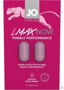 Jo For Her Lmax Now Female Performance 2 Pill Pack 12 Packs Per Counter Display