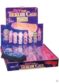 Happy Top Tickler Cage 8 Per Display Assorted