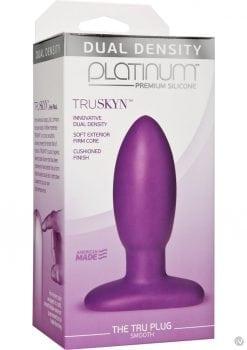 Platinum Silicone Anal plug Purple 3.5 Inches