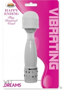 Wet Dreams Happy Ending Play Diamond Wand Mini Massager White