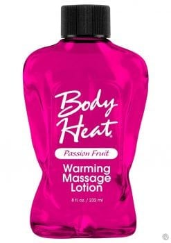 Body Heat Edible Warming Massage Lotion Passion Fruit 8 Ounce