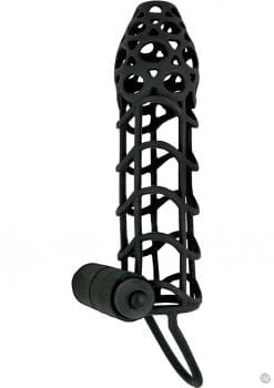 Mack Tuff Vibrating Silicone Cockcage Waterproof Black