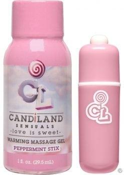 Candiland Sugar Buzz Massage Set Waterproof Bullet Peppermint Stix