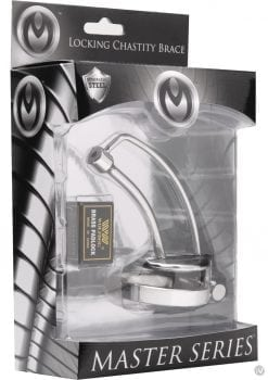 Master Series Asylum Locking Chasity Brace 4 Inches