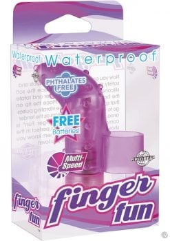 Finger Fun Massager Waterproof Purple