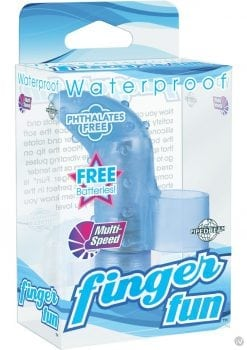 Finger Fun Massager Waterproof Blue