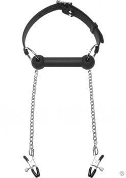 Master Series Equine Silicone Bit Gag Nip Clamps Black