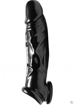 Master Series Fuk Tool Penis Sheath And Ball Stretcher Black 8Inches