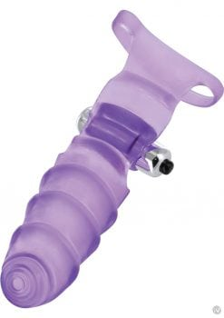 Frisky Double Finger Banger Vibrating G Spot Glove Purple 6.25 Inch