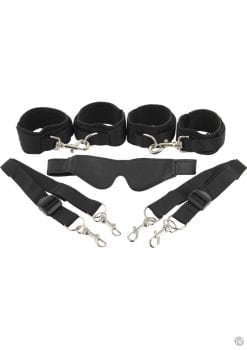 Frisky 7 Piece Bed Restraint System Black