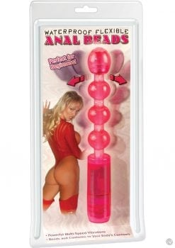 Waterproof Flexible Anal Beads 8.25 Inch Pink