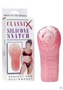 Classix Silicone Snatch Masturbator 5 Inch Pink