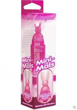 Mini Mals Bunny Massager Waterproof 4 Inch Pink
