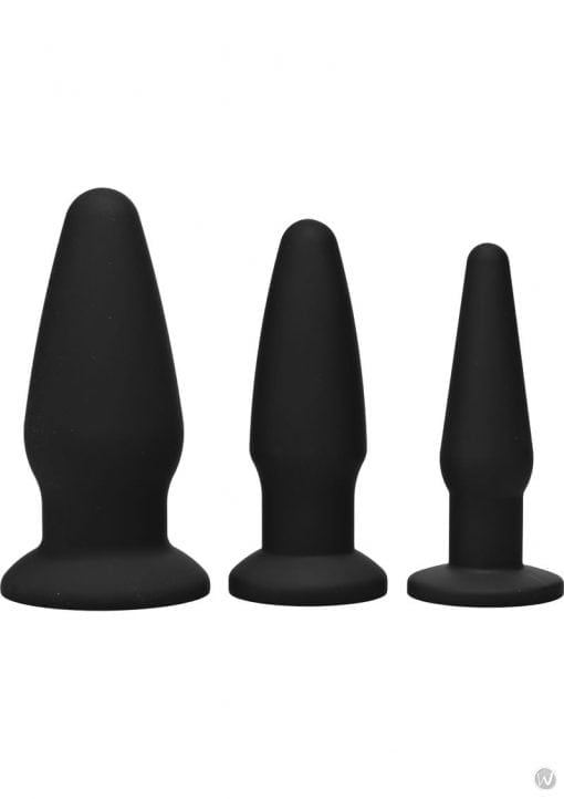 Trinity Vibes Silicone Anal Training Kit 3 Peice Black