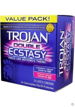Trojan Double Ecstasy Condoms 24 Pack