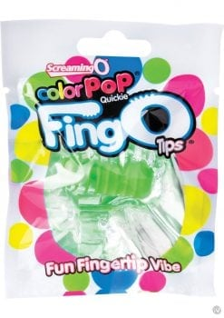 Color Pop Quickie Fing O Tips Fingertip Vibes Green 12 Each Per Box