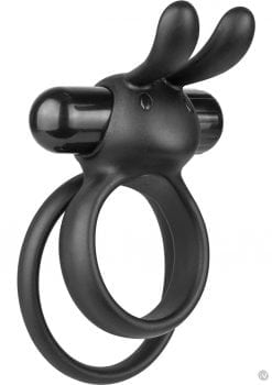 Ohare XL Silicone Wearable Rabbit Vibe Cockring Waterproof Black 6 Each Per Box